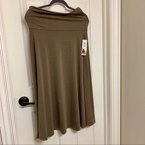 Brown soft skirt and maxi dress 2 in 1 NWT